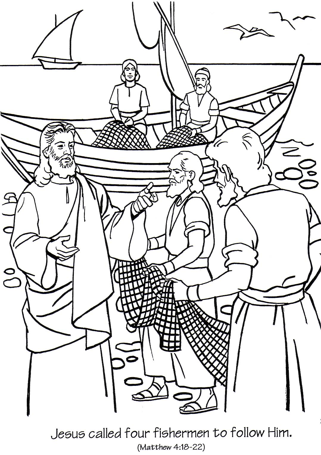 Coloring Pages For Following Jesus. COLORING PAGE Jesus  Ministry In Galilee Coloring Page